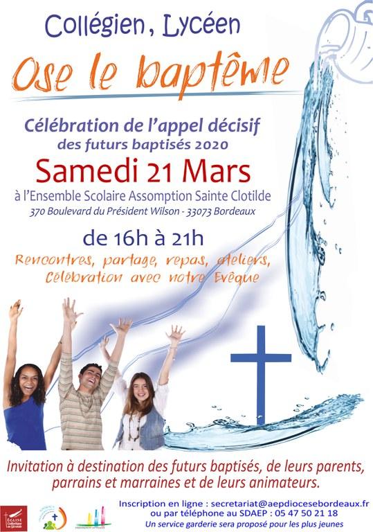 Affiche Catéchuménat Ados  Appel décisif du 21 - 03 - 2020 version du 15 -01- 2020.jpg